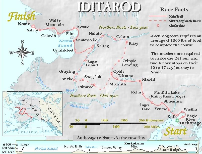 eiditarod 2001 trail map